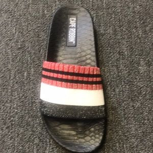 Black red and white shinning slide